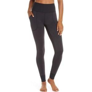 MPG Gray Denim High Rise Yoga Pants Leggings Gym